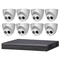 DKT688 Dahua 8CH CCTV Kit Installed - 8 x 6MP Turret IPC + NVR