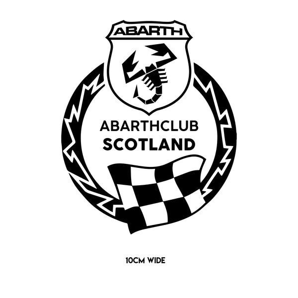 Abarth Club Scotland Badge Sticker