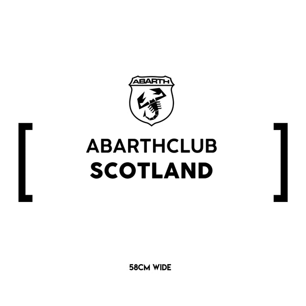 Abarth Club Scotland Statement Sticker - Large