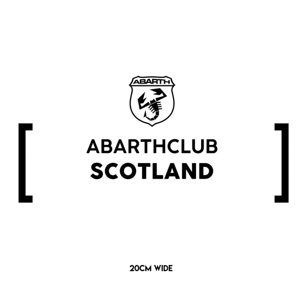 Abarth Club Scotland Statement Sticker - Small