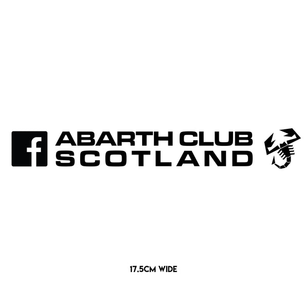 Abarth Club Scotland Facebook Sticker