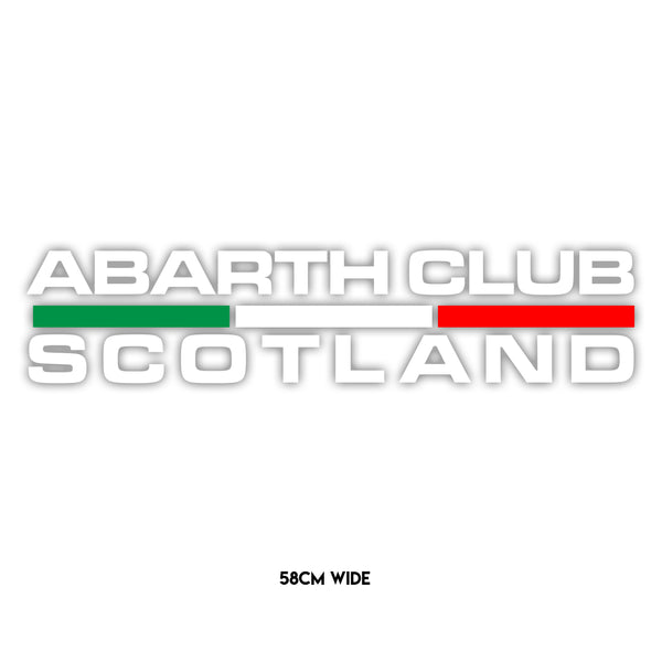 Abarth Club Scotland Flag Sticker - Large