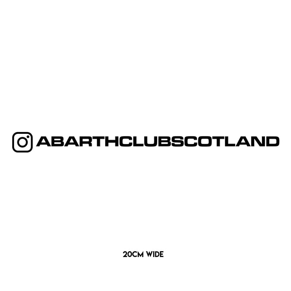Abarth Club Scotland Instagram Sticker