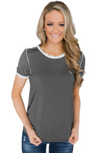 Taupe Simple Trim Classic Preppy Tee