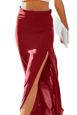 Red Drop Dead Gorgeous Maxi Skirt