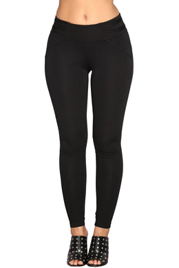 Black Mid-rise Skinny Leggings