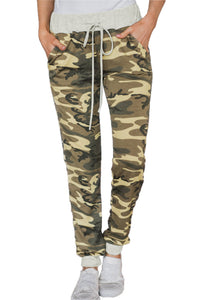 Army Green Under The Radar Pocketed Camo Joggers