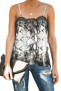 Black Adjustable Lace Cami Tank