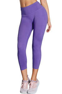 Purple High-Rise Track Full-Length Performance Leggings