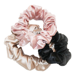 use a silk or fabric scrunchies