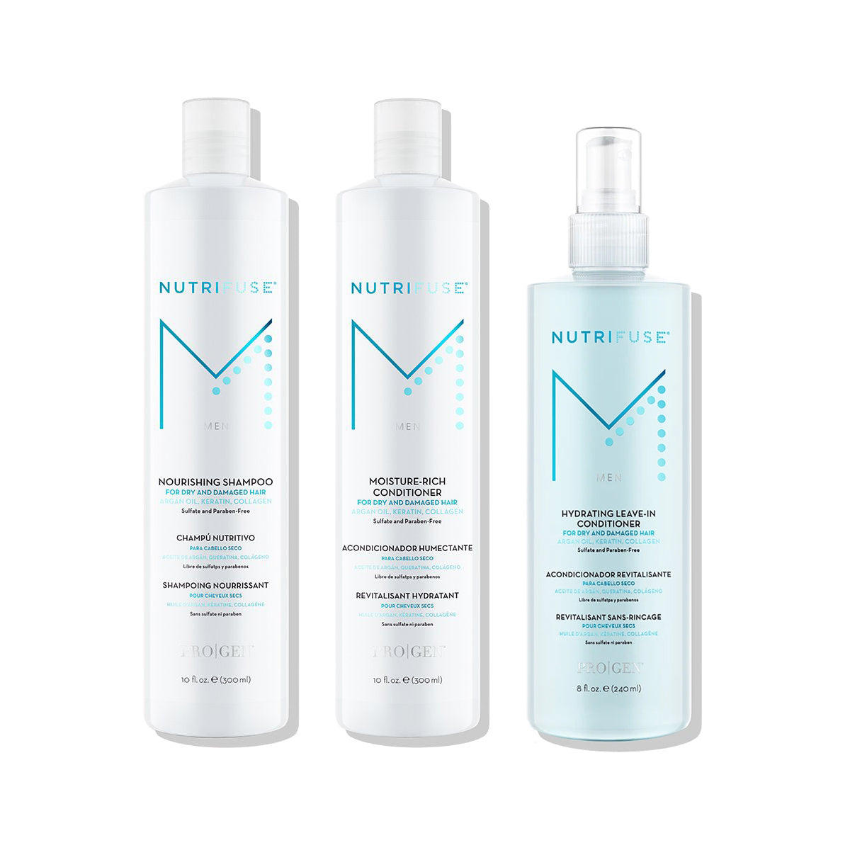 Men's Shampoo, Conditioner, & Leave-In Bundle
