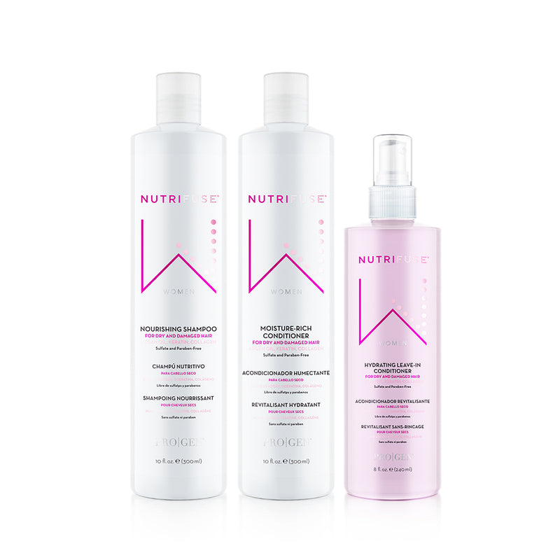 Women's Shampoo, Conditioner, & Leave-In Bundle