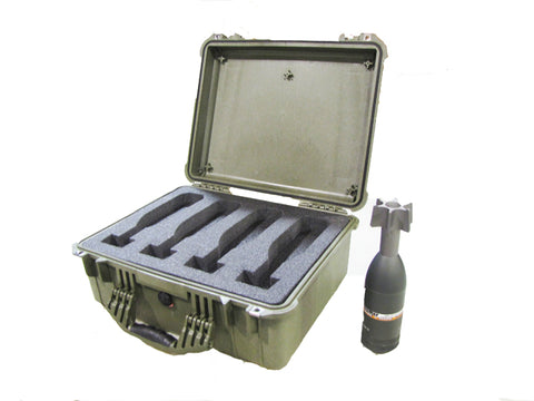 Replacement, Transport Case for Drop-Fired Mortar Rounds (4 Pack)