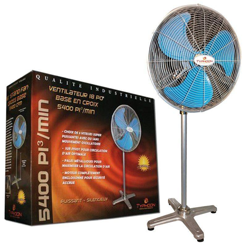 "Typhoon High Velocity Stand Fan 18"" 5200 cfm - GrowDudes"
