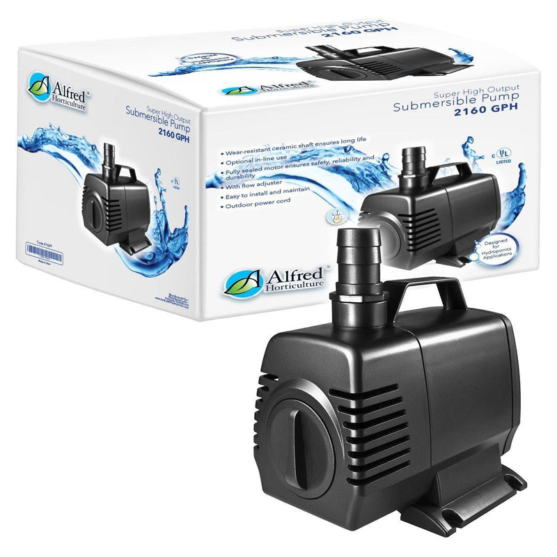 Alfred Water Pump 2160GPH - GrowDudes