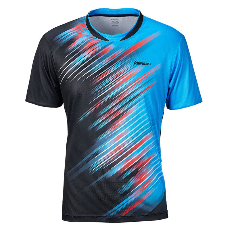 Kawasaki Badminton T-Shirt Men Tennis Quick Dry Short-Sleeve Training  Breathable Shirts For Male ST-S1128