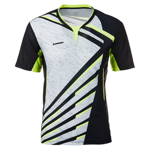 Tennis Shirts Men T-shirt V Neck Short Sleeves Tennis T Shirt For Male Team Sports Sportswear ST-T1013