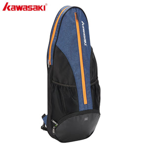Kawasaki Big Racket Badminton Bag Multi-layer Placement Tennis Racket Dacron Shoulder Blue Bag Honor Series KBB-8302