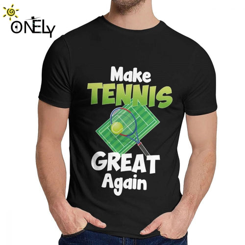 Tennis Sports Playing T Shirt Unisex Fashion Young Style Classic