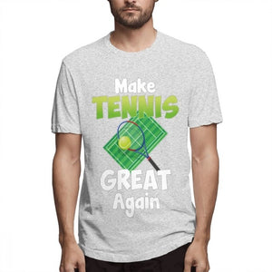 Men's Fashion Again Make Tennis Great Tennis Sports Playing Tee Shirt