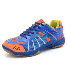 Load image into Gallery viewer, Unisex's Tennis Shoes with Non-slip Sneakers Lightweight Casual Shoes Blue Orange Sneakers Men Tennis Shoes Volleyball Shoes