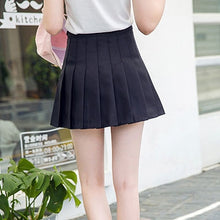 Load image into Gallery viewer, Girl High Waist Pleated Tennis Skirt  Short Dress With Underpants