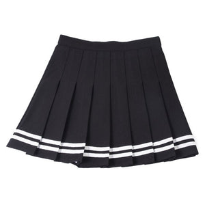 Tennis Skirt Sweet Stripe High Waist Skirt Uniforms Sports Running Skirt