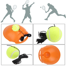 Load image into Gallery viewer, Tennis Training Tool Exercise Tennis Ball Self-study Rebound Ball With Tennis Trainer Baseboard Tennis Accessories