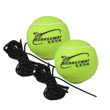 Load image into Gallery viewer, Heavy Duty Tennis Training Aids Tool With Elastic Rope Ball Practice Self-Duty Rebound Trainer Partner Sparring Device Baseboard