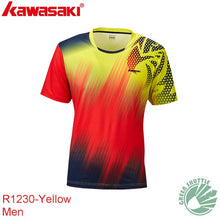 Load image into Gallery viewer, Genuine 2020 New Kawasaki ST-R1243 R1229 100% Polyester Badminton T-shirt For Men And Women  Moisture Wicking badminton shirt