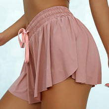 Load image into Gallery viewer, Butt Scrunch Skirted Yoga Shorts Running Cycling Biker Shorts Tennis Skorts Women 2 In 1 Marathon Quick Dry Shorts Sport Shorts