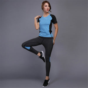 2021 New Hot Women's Sportswear Yoga Set Fitness Gym Clothes Running Tennis Shirt Pants Yoga Leggings Jogging Workout Sport Suit