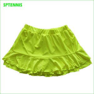 Girl Layered Tennis Skirt Women Badminton  Running Dance Sports Tiered Skorts Summer Anti Exposure