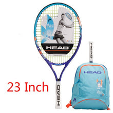 Load image into Gallery viewer, Head 21/23/25 Inch Junior Carbon Fiber Tennis Racquet for Kids Youth Childrens Sharapova Training Rackets With bag cover