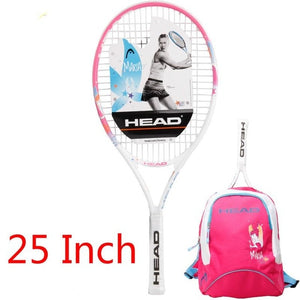 Head 21/23/25 Inch Junior Carbon Fiber Tennis Racquet for Kids Youth Childrens Sharapova Training Rackets With bag cover