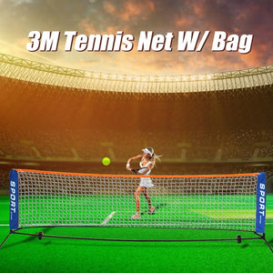 1 x Foldable Mini Tennis Net Outdoor Indoor Sports Portable Tennis Net 3 Meters 6 Meters Available Steel Tube + Wrought Iron