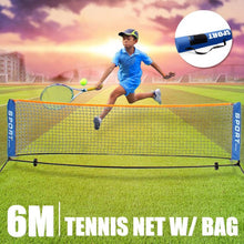 Load image into Gallery viewer, 1 x Foldable Mini Tennis Net Outdoor Indoor Sports Portable Tennis Net 3 Meters 6 Meters Available Steel Tube + Wrought Iron