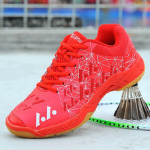 Load image into Gallery viewer, Hot Sale Tennis Shoes Men Women Lace Up Badminton Leather Shoes