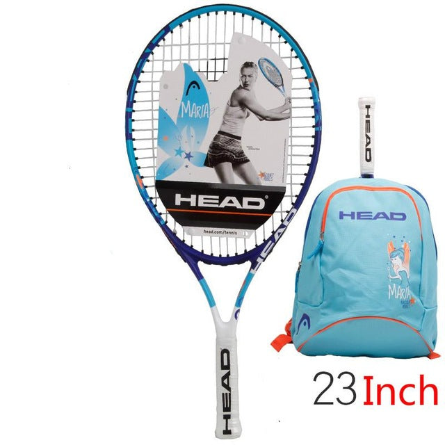 Hot Head Junior Carbon Fiber Tennis Racquet for Kids Youth Childrens Training Rackets With bag  21/23/25 Inch Raquete De Tenis
