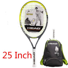 Load image into Gallery viewer, Hot Head Junior Carbon Fiber Tennis Racquet for Kids Youth Childrens Training Rackets With bag  21/23/25 Inch Raquete De Tenis
