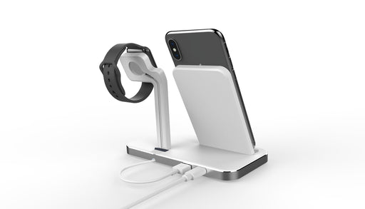 Uolo Volt Fast Wireless Charging Stand with Apple Watch Mount