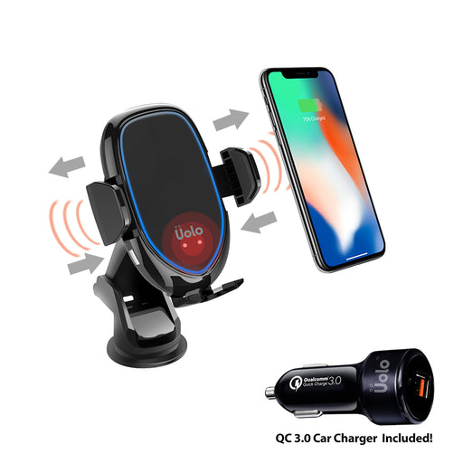 Uolo Volt Infrared Automatic Fast Wireless Charging Car Mount