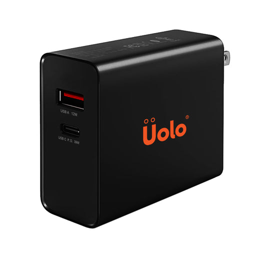 Uolo Volt 39W PD Wall Charger with 12W Smart USB A Port