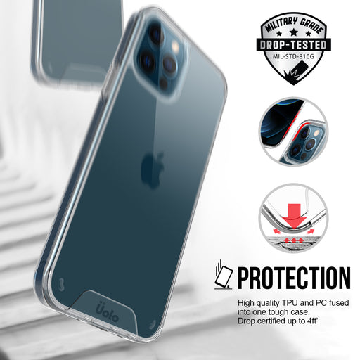 Uolo Soul+ Clear Protective Case for iPhone 12/12 Pro