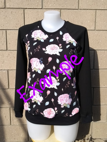 ** Custom** Woman's Cotton Sweatshirt