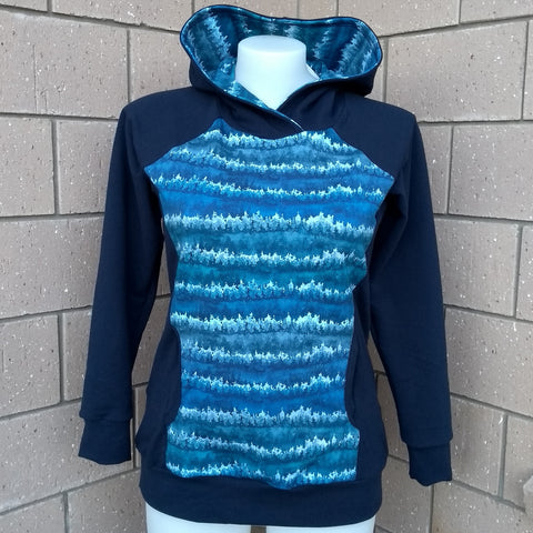 RTS Womans Hoodie Navy Forest Size 14