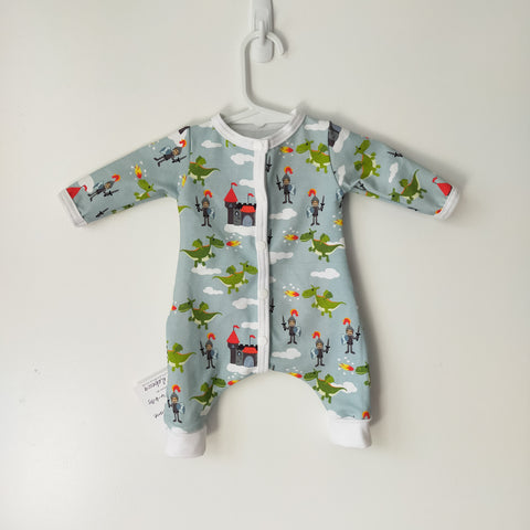 Prem Knights and Dragons Romper  4-6 lb
