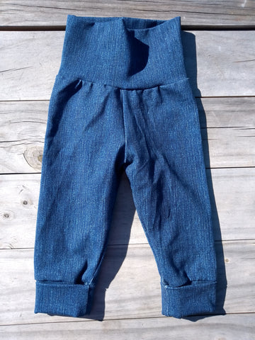 "Grow With Me Pants ""Denim"" SMALL 0-6m"