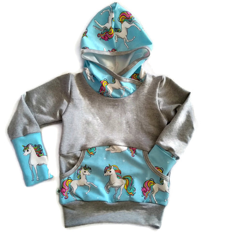 Grow With Me Hoodie ** Unicorn * Sz XL 3-6 yrs