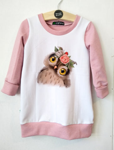 Grow With Me Owl Tunic * Sz L 1-3 yrs